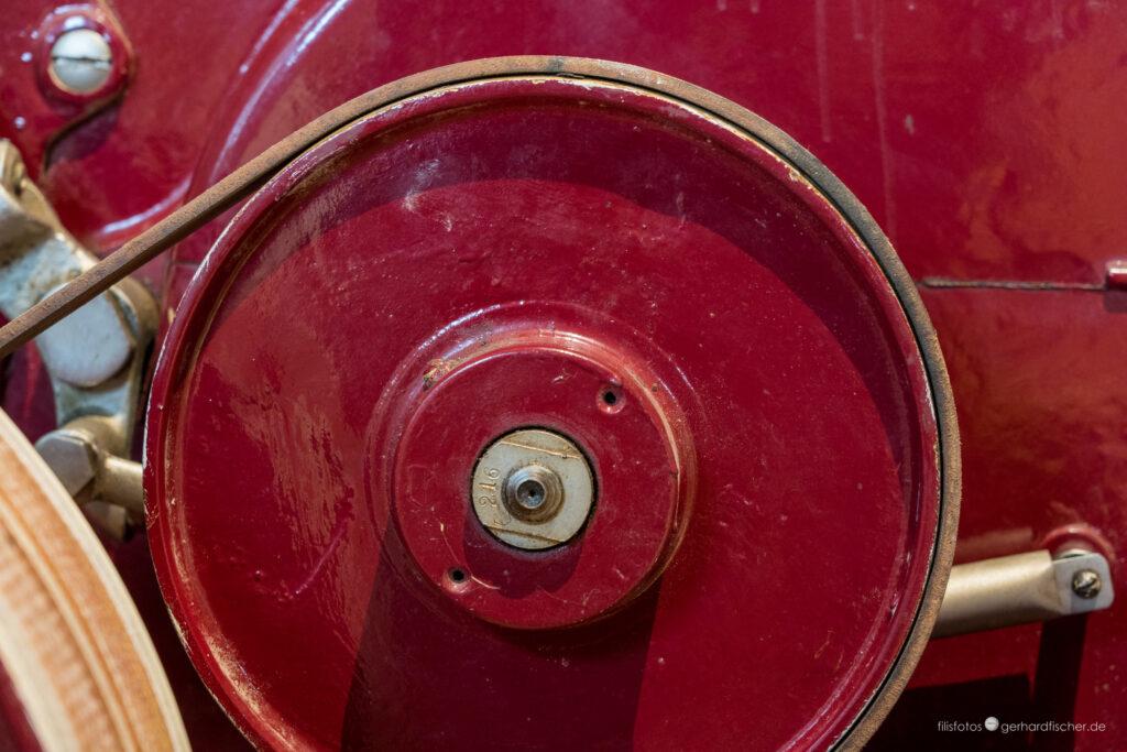 Rot rotierender Riemen